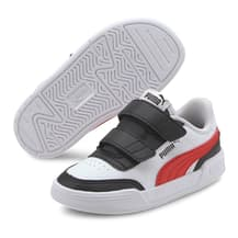 Puma Caracal Velcro Shoes Blue White Red Kids